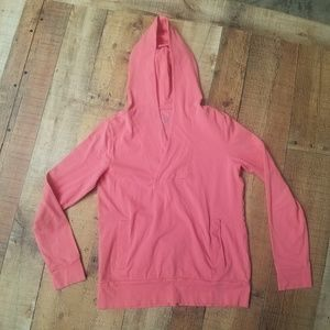 Banana Republic Pink Hooded Pullover Top Size M